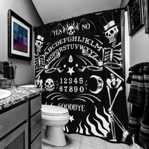 Too Fast Skeleton OUIJA Board Tattoo Gothic Punk Shower Curtain AHWSC-T-OUIJA image 2