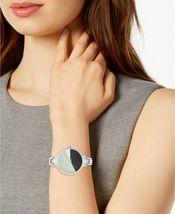 I.N.C. Women's Silver Tone 36mm Bracelet Art Deco Style Geometric Watch NEW image 4