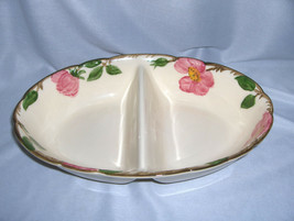 Vintage 2-Part Divided Bowl Franciscan China Stoneware Desert Rose USA NICE - $44.55