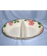 Vintage 2-Part Divided Bowl Franciscan China Stoneware Desert Rose USA NICE - $44.55