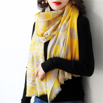 Wool Scarf for Women,Warm Soft Scarf, Autumn, Winter, Gift, Polka Dot Wo... - $49.00