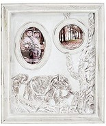 Lenox Ivory Elephant Safari Picture Frame Lucky Double Carved Antique Fi... - $155.00
