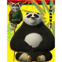Kung Fu Panda 2 Thank You Cards with Envelopes 8 Count Birthday Party Su... - $3.91