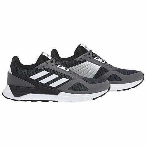 Brandneu Herren Adidas Run 80S Laufen Sportschuhe Dunkelgrau Schwarz/Weiß/Grau