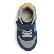 Cat & Jack Navy Yellow Boys Toddler Chase Jogger Sneakers Shoes Hook & Loop NWT image 3