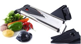 Manual Mandoline Vegetable Slicer Onion Cutter Grater 5 Stainless Steel ... - €40,06 EUR