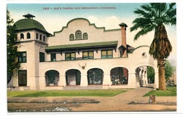 Elk's Temple San Bernardino California 1910c postcard - $6.39