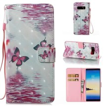 Galaxy Note 8 Wallet Case,Firefish Magnetic Closure Slim Fit Wallet Case... - $14.71