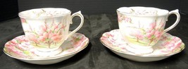 Two Royal Albert Cups and Saucers * Blossom Time - $42.74