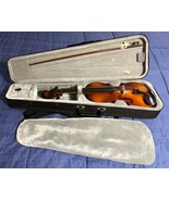 Violin in Velvet Case & Bow - Unmarked - Excellent Condition - $89.09