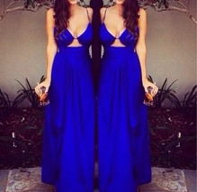 Sleeveless Prom Dress ,Sexy Chiffon Prom Dress Backless Evening Dress,Party Gown - $179.00