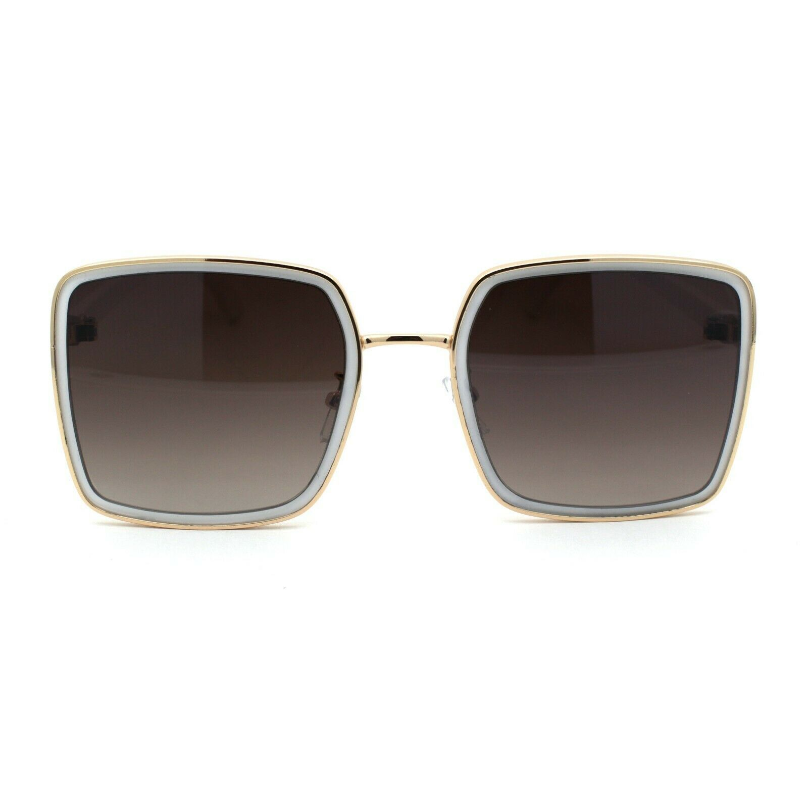 Womens Classic 90s Double Rim Squared Butterfly Sunglasses