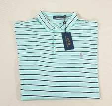 Polo Ralph Lauren Striped Short Sleeve Classic Polo Shirt Mens XL Teal $85 - $44.88