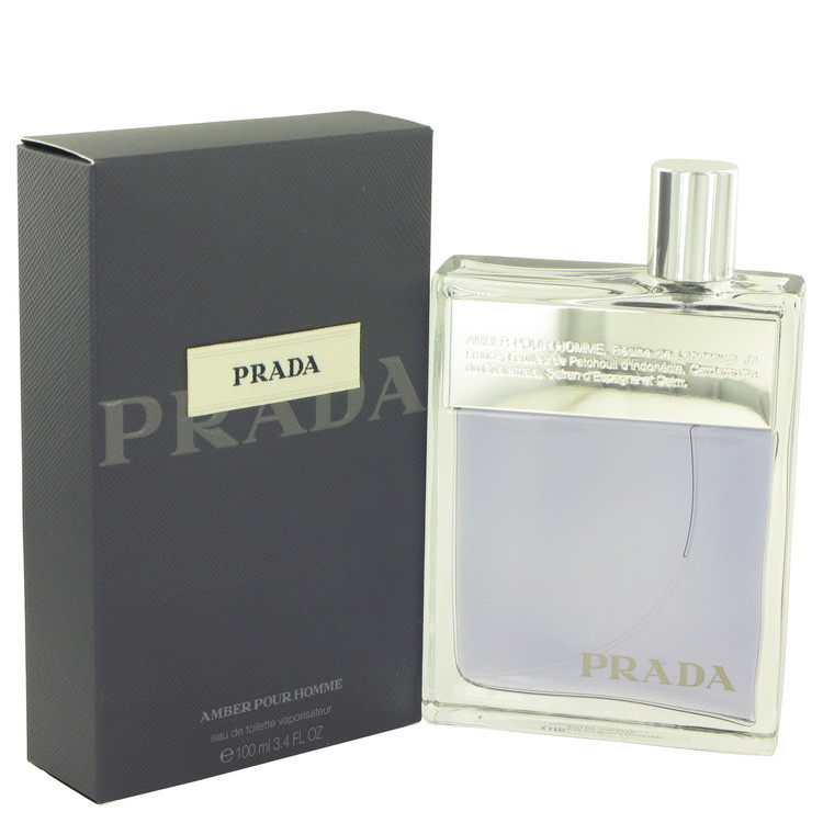 Prada Amber 3.4 Oz Eau De Toilette Cologne Spray