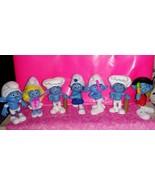 Lot of 7 McDonald's Smurf figures! $14 - $14.00