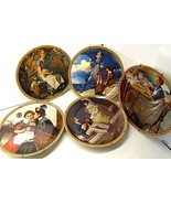 5 Vintage knowles Plate Rockwell's Rediscovered Women Collection w/Hangers - $31.19