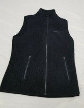 Marmot Fleece women Vest M Medium Full Zip Polartec Black Zippered Pockets - $20.00