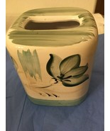 CATALINA PACIFIC LINEN FILIGREE TISSUE COVER BOX--FLORAL / LEAVES--GREEN... - $25.19
