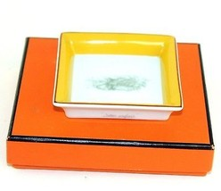 Auth Hermes Porcelaine Paris Accessory Pottery Multi-Color Mini Ashtray w/ Box - $137.61
