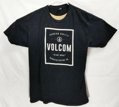 VOLCOM Men's Black Spellout Tee T-Shirt Size Large EUC Beautiful Shirt - $11.27