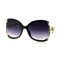 Womens Oversized Square Sunglasses Butterfly Adornment UV 400 - $9.95