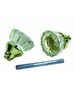 Glass Knob Set with Spindle Polished Bright Brass First Watch Security 1... - $10.52