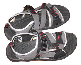 Mens Shoes Size 12  Summer Hiking Sandals Beach Athletic Gray Straped Op... - $35.48 CAD