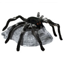 Jumping Spider with Red LED Eyes Spooky Halloween Outdoor Patio Ornament... - ₨5,395.37 INR