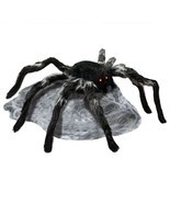 Jumping Spider with Red LED Eyes Spooky Halloween Outdoor Patio Ornament... - $73.35