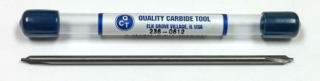 """#1 CARBIDE CENTERDRILL 4/"""" OAL ANGLE QCT 236-0612 60° INCL 1//8/"""" SHANK"""