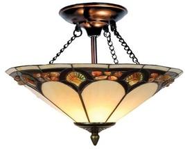 Dale Tiffany Light Fixture  Genuine Pebblestone  Amber Art - $249.99