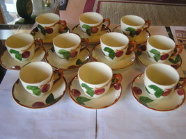 -Magnicent Set of 10  FRANCISCAN Cups and Saucers-Apple Pattern - $74.56