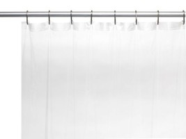 "Shower Curtain 5 Gauge Vinyl 72"" wide x 78"" extra long Clear Metal Gromm... - $9.49"