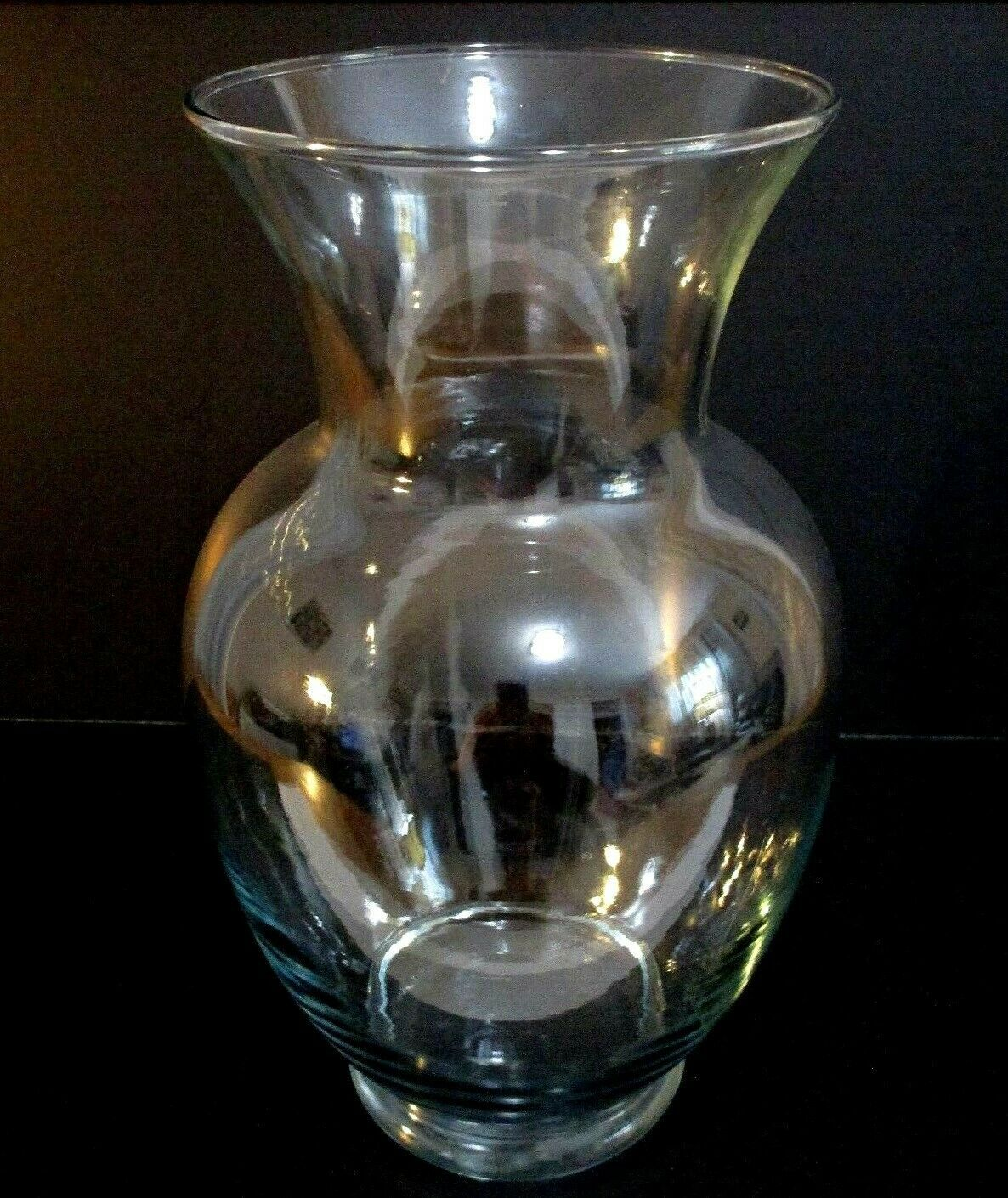"Indiana Glass Co. Extra Large Clear Glass Vase 11""x5"" - $11.88"