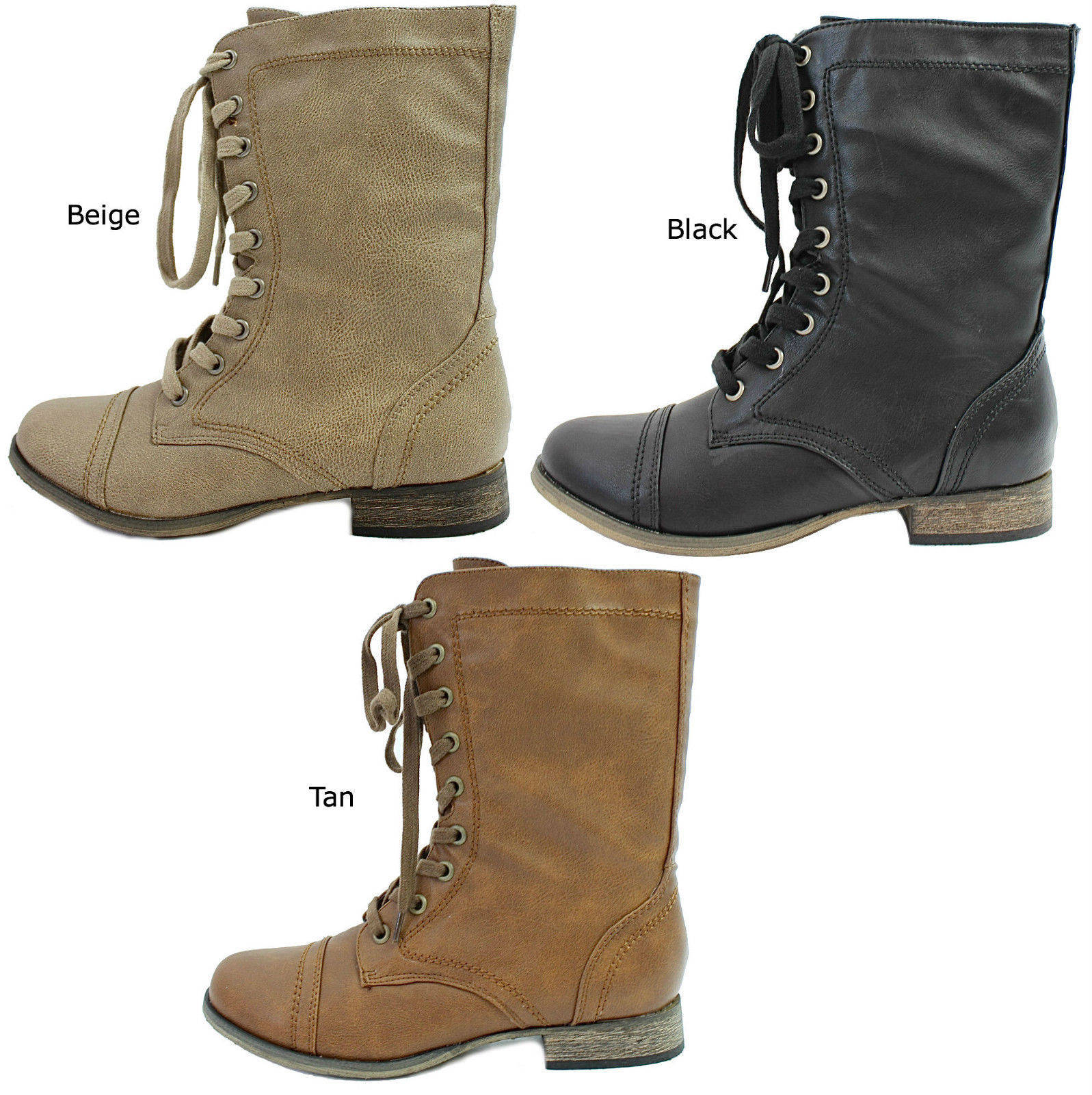 9f1a919763168 S l1600. S l1600. Previous. New Women's Breckelle's Georgia-21 mid calf Lace  Up military Boots ...