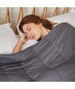 ZonLi Cooling Weighted Blanket 15 lbs60''x80'', Queen Size, Grey, Cooled... - $74.69