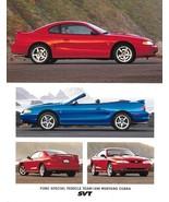 1998 Ford SVT MUSTANG COBRA sales brochure sheet US 98 - $10.00