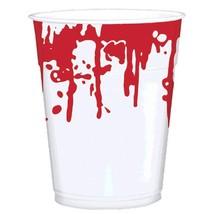 Asylum Blood Spattered 16 oz Cups 25 ct Plastic Halloween - £6.01 GBP