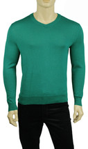 NEW MENS CALVIN KLEIN V NECK GREEN COTTON MODAL PULLOVER SWEATER S $79 - $26.99