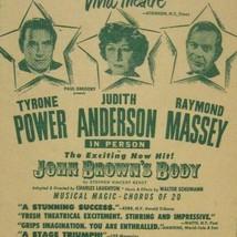 John Brown's Body FLYER 1953 Tyrone Power Judith Anderson Raymond Massey... - $49.49