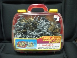 MEDIEVAL KNIGHT CARRY ALONG CASE PLAYSET - $12.86