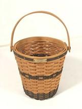 Longaberger Vintage Original 2000 Bankers Waste Basket JW Collection Made In USA - $49.49
