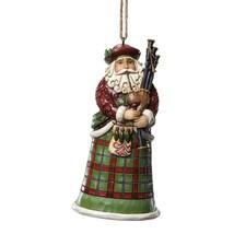 Jim Shore Scottish Santa Hanging Ornament Around the World Collection 4022943