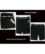 Dana Buchman Black Tie Signature Shorts W/Belt Women's 16 NWT - $12.99