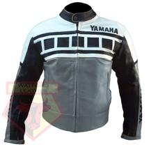 YAMAHA 6728 GREY MOTORBIKE MOTORCYCLE ARMOURED COWHIDE LEATHER JACKET - $194.99