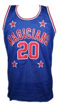 Mark Haynes #20 Harlem Magicians Basketball Jersey Sewn Blue Any Size image 4