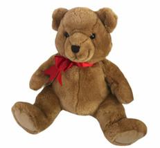 """Dakin Brown Bear 13"""" Plush Red Ribbon Secret Pocket - $38.12"""