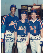 NEW YORK METS Autograph Photo, nicely signed by Gary Carter,Jefferies,St... - $78.21