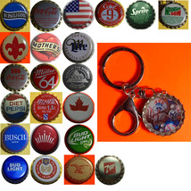 NY Yankees Baseball Coke Sprite Diet pepsi & more Soda beer cap Keychain
