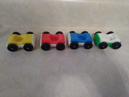 4 Different Vintage Fisher Price Little People Garage Cars w/ Fisher Pri... - $12.38